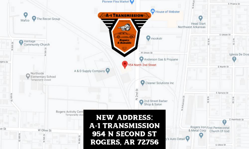 NEW ADDRESS_ A-1 Transmission 954 N Second St Rogers, AR 72756